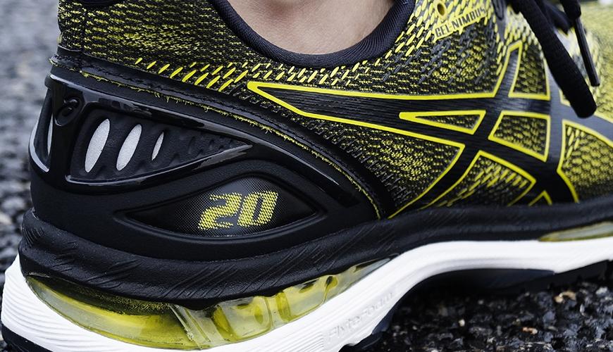 Asics gel-nimbus 20 løbesko hælkappe