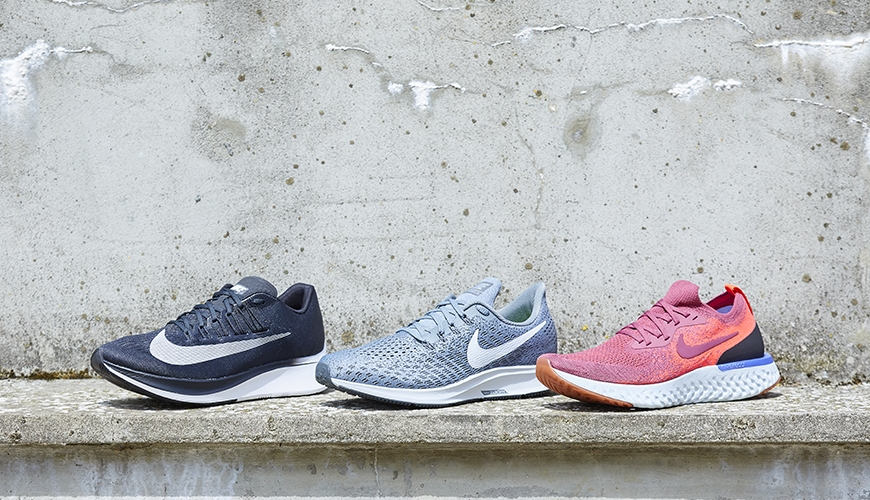 Nike Zoom Fly vs. Nike Pegasus 35 vs. Nike Epic React Flyknit