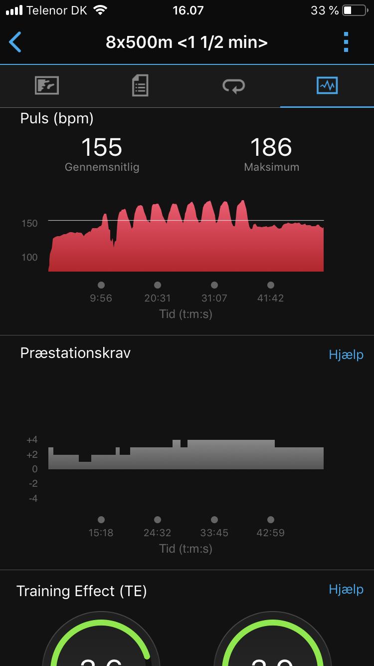 garmin puls interval