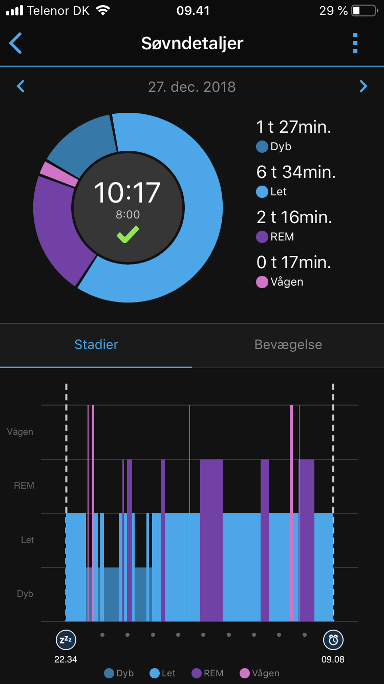 garmin sleep