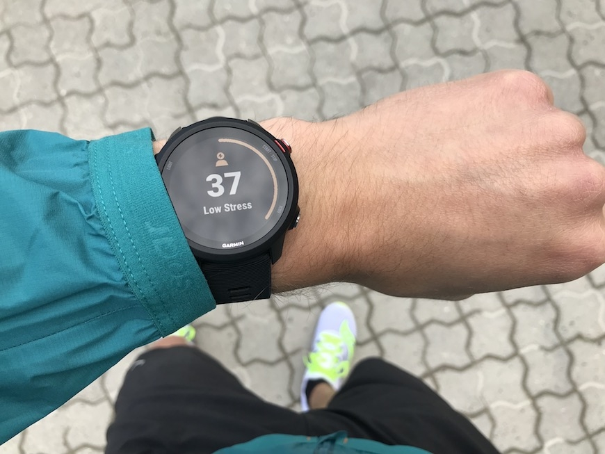 garmin forerunner 245 music stress