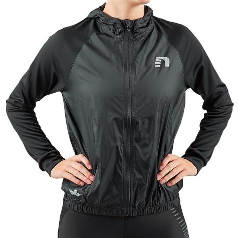 newline black hooded track jacket