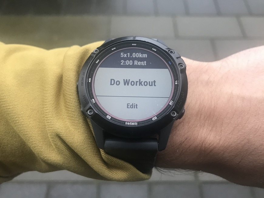 interval garmin fenix 6